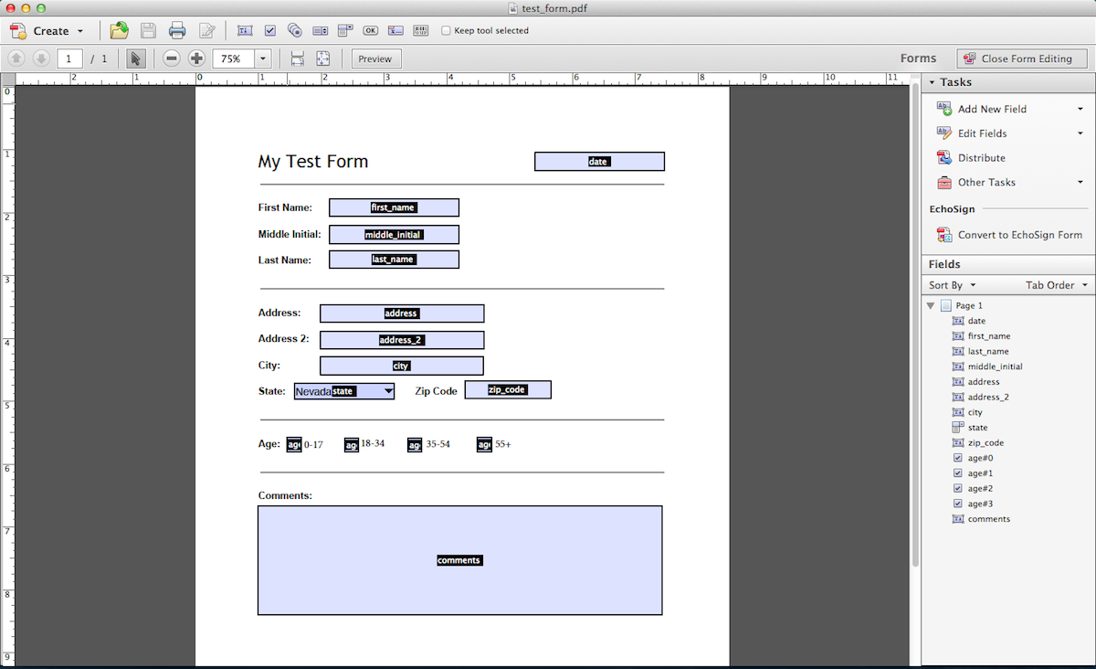 Create your PDF form using Adobe Acrobat